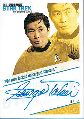 The Quotable Star Trek Autograph Qa3 Sulu. Phasers Locked On Target Captain