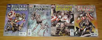 Wolverine/Captain America #1-4 VF/NM complete series - tom derenick - marvel 2 3
