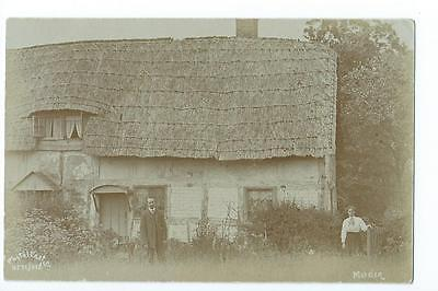 Herefordshire RP of a thatched cottage at Marden @1908