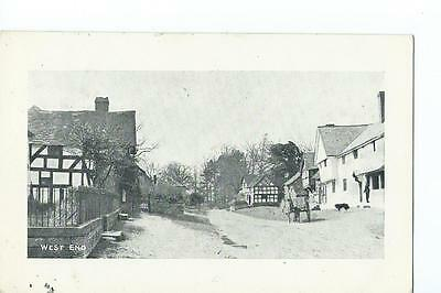 Herefordshire printed view of West End, Pembridge PU 1912