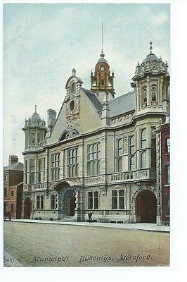 Herefordshire printed view by Hartmann the Municipal buildings, Hereford @1908