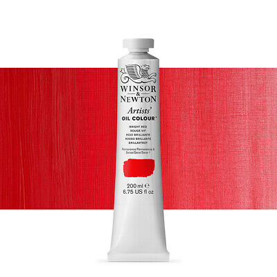 Winsor & Newton Artists Oil Paint 200ml Bright Red