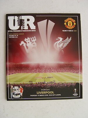 Manchester United v Liverpool 2015/16 Europa League