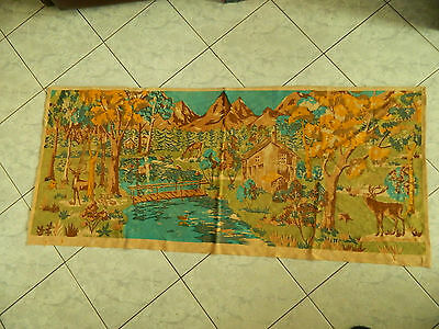 Old vintage hunting scenes wall hangings tapestry decor Hungary canvas