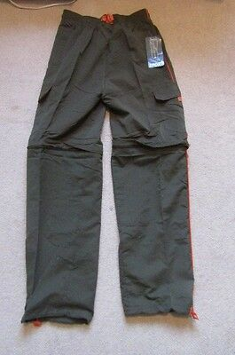 mens super green long leg,zip off option trousers/shorts.SIZE SMALL.BRAND NEW