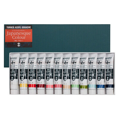 Turner : Acrylic Gouache Paint : Set of 12x20ml : Japanesque Colours