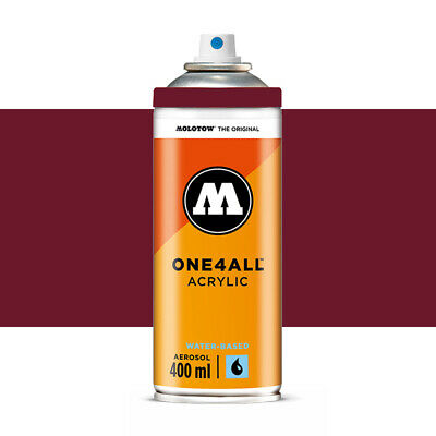 Molotow : One4All : Acrylic Spray Paint : 400ml : Burgundy Red : By Road Parcel