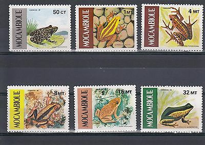 Timbre Stamp 6 Mozambique Y&t#1002-07 Grenouille Frog Neuf**/mnh-Mint 1985 ~A02