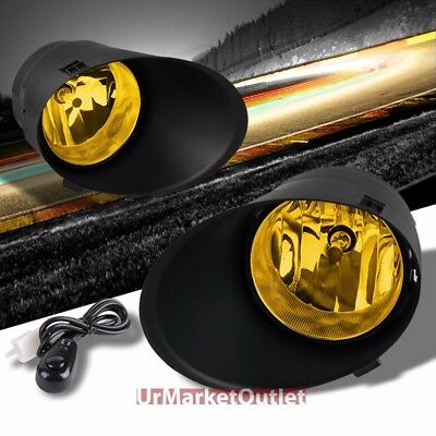 Yellow Amber Len Front Bumper Fog Light Lamp+Bezel+Bulb+Switch For 07-13 Tundra