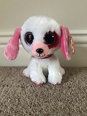 "Ty Beanie Boo Darlin' The Dog Valentines Special Retired 6"" 2013  + Tag"