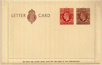 GB KGVI 1d+1½d PROVISIONAL LETTER CARD INCREASED POSTAGE RATE WW2 MINT VGC