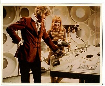 """Doctor Who 8""""x10"""" Color Promo Still Reproduction Illustration Jon Pertwee FN"""