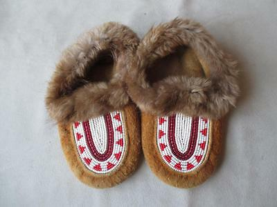 Fabulous Pair Beaded Native American Child's Moccasins