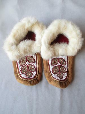 Fabulous Pair Beaded Native American Moccasins