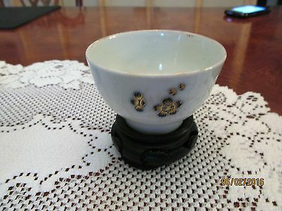 Chinese Export Porcelain Floral Tea Cup Antique