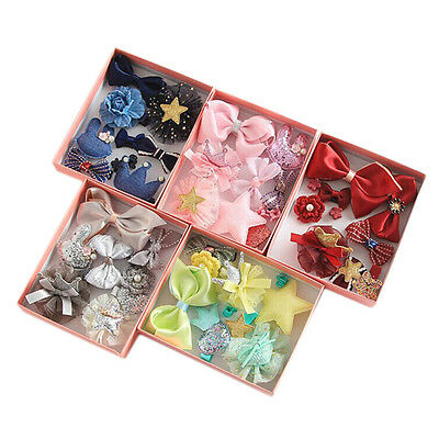 10PCS/SET Kids Girls Baby Crown Hairpin Hair Clips Princess Barrette Accessories