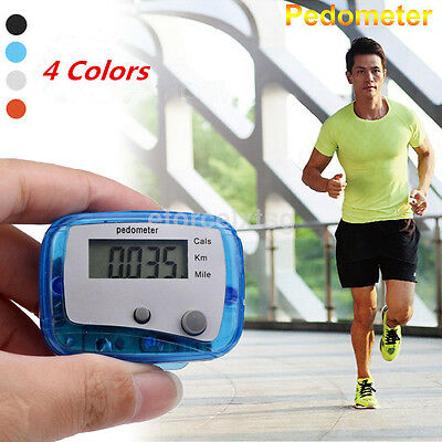 LCD Multi Pedometer Distance Walking Step Calorie Calculation Clip-on Counter