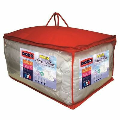 Dodo - Pack Anti-acariens Reves d'hiver - 1 couette 140x200 cm + 1 NEUF