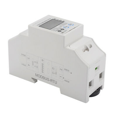 5(50)A 230V 50/60Hz Energy Meter 2P Electricity Single Phase Din Rail LCD TE748