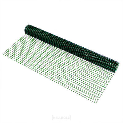Wire mesh square green 1mx5m Welded Wire Grid Aviary Mesh Wire Fence
