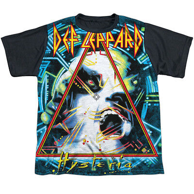 Def Leppard Hysteria Big Boys Youth Sublimated Shirt with Black Back