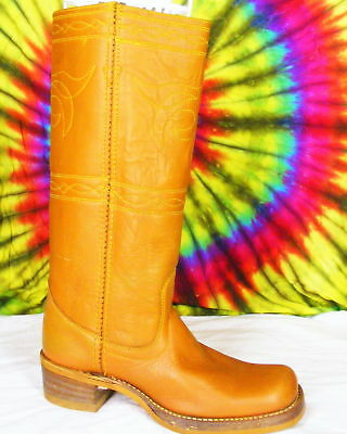 6 M vtg 70s tall RODEO knee-high leather campus boots
