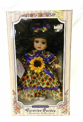 Victorian Garden Miniature Collection Sunflower Melissa Jane Porcelain Doll