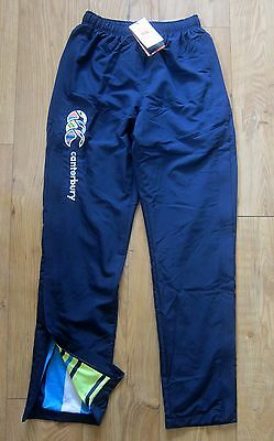 BNWT Canterbury Uglies Tapered Open Hem Stadium Rugby Training Pants Small Blue