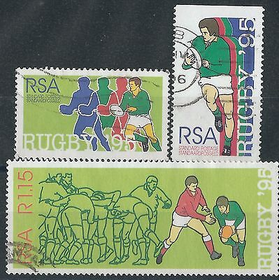 n236) South Africa.1995. MM.  SG 875/76/77. Rugby World Cup