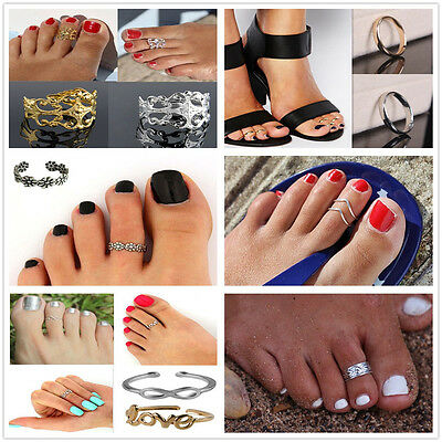 Celebrity Fashion Beach Jewelry Gold Retro Adjustable Open Toe Ring Finger Foot