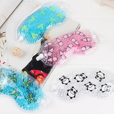 Cartoon Gel Eye Mask Hot &Cold Relief Therapeutic Gel Filled Beads Stress Relief