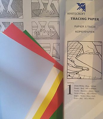 Whitecroft Dressmakers Tracing Paper/Carbon Paper,5 Sheets Each 165mm x 495mm