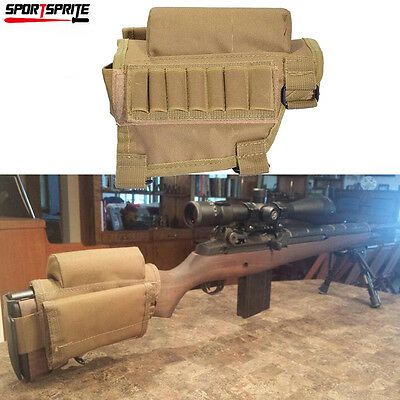 Rifle Cheek Rest Pad Ammo Cartridges Holder Carrier Pouch Buttstock Adjustable