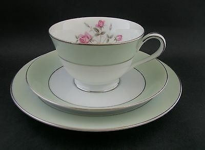 Noritake Vintage China Roses Trio Tea Cup Saucer Plate RC c1950s Japan