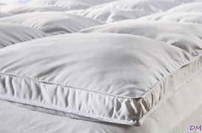 Olympic Queen Down Alternative Mattress Topper Pad w/ Stay Down Anchors