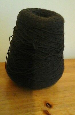 knitting cones approx 470grams dark brown soft feel