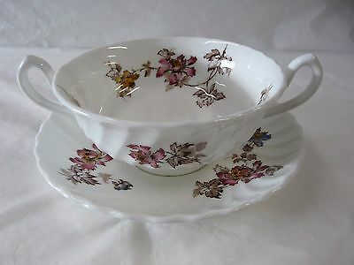 Minton China Vermont Pattern S365 Cream Soup & Under Plate