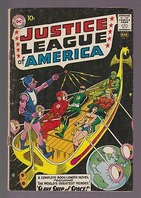 Justice League of America # 3  Slave Ship of Space !  grade 3.5 scarce book !