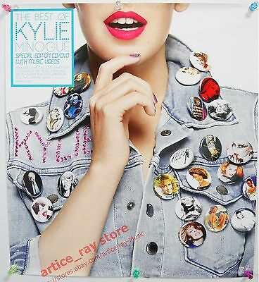 KYLIE MINOGUE The Best Of 2012 Taiwan Promo Poster NEW