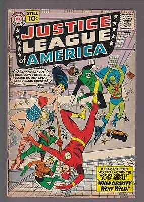 Justice League of America # 5  When Gravity Went Wild !  grade 3.5 scarce book !