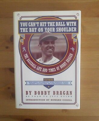 signed BOBBY BRAGAN AUTOBIOGRAPHY BOOK MILWAUKEE BRAVES ATLANTA MANAGER