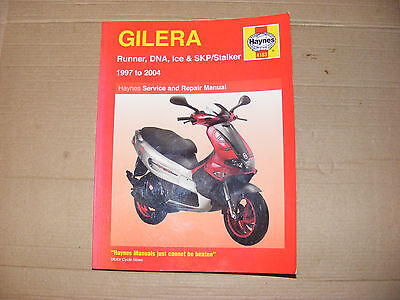 Gilera Scooters Haynes Manual 1997 To 2004 Runner Dna Ice Skp Stalker