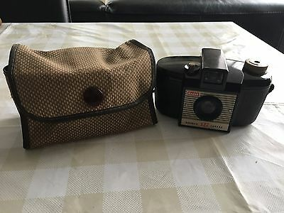 Vintage Kodak Brownie 127 Box Camera And Case