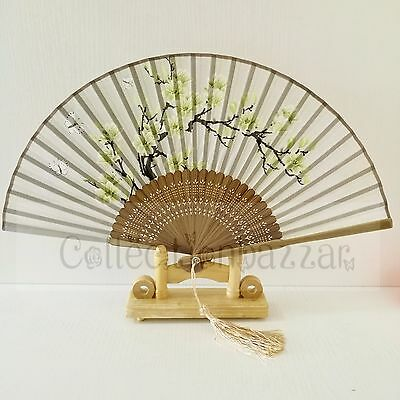 Chinese Bamboo Silk Floral HAND FAN for Wedding Gift/ Fan Collection G