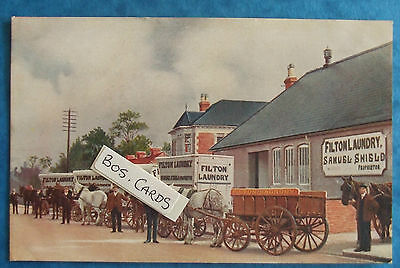 ADVERTISING Postcard c.1905 SAMUEL SHIELD FILTON LAUNDRY FILTON BRISTOL