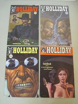 Complete Set Of Holliday #1-4 Saddle Tramp Press Comics Western Doc Holliday