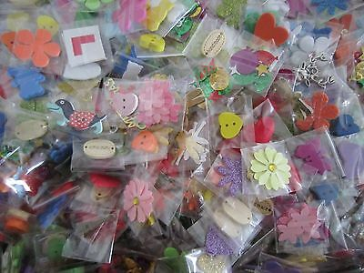 X 20 Mini Bags Of Embellishments For Card Making / Scrapbooking (Ref103)