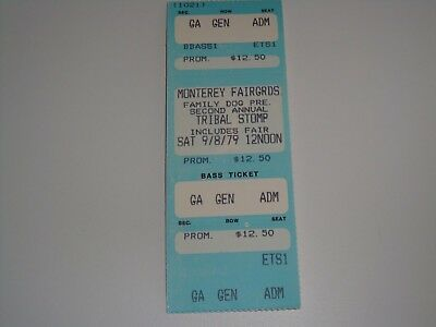 THE CLASH UNUSED 1979 CONCERT TICKET MONTEREY Joe Strummer Family Dog STOMP USA