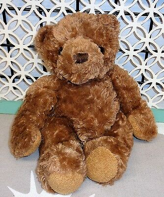 "Dex Soothing Womb Sound Teddy Bear Plush SOFT 13"" Long Brown Baby Heartbeat"