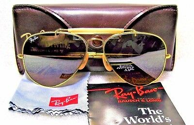 SUNGLASSES RAY-BAN NOS VINTAGE B&L AVIATOR for DRIVING *TGM OUTDOORSMAN I L1695